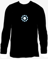 Iron man1 1 luminous t-shirt long-sleeve ef229