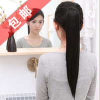 Wholesale Imitation human made Baby wig straight hair horseshoers ponytail curly hair pear horseshoers hair extension piece