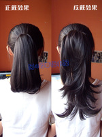 Wholesale Imitation human made Wig horseshoers wig girls dual clip-on pear roll horseshoers 25cm