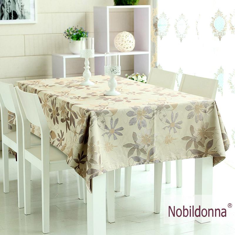 Nobildonna fashion dining table cloth fabric table linen table cloth fashion new classical jacquard dining table cloth(China (Mainland))