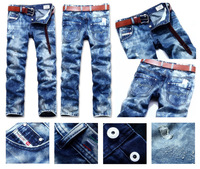 Free Shipping Newest Top Quality Men's DSL Jeans Fashion Washing  Jeans BLUE #79135+ Free GIFT