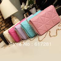 Wholesale new rhombohedrons case grain chain bag Vintage Handbag Shoulder obliquely across the small bag