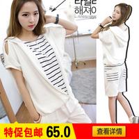 2013 fashionable casual set summer short-sleeve sweatshirt sports set Women summer sportswear