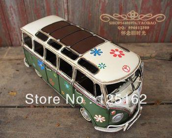 Retro modelo de coche modelo 1955 modelo de autobús Volkswagen coche manual do viejo techo hueco