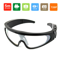 New Mini HD DV Camera Eyewear Men's Sport UV Black Frame Sunglasses 1280 * 720