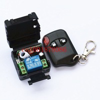 Free Shipping  DC12V wireless remote control switch with cat's eye two key remote control, lamp access door controllers,