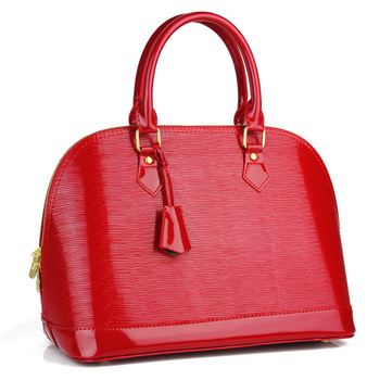 Water wave red bags 2013 female shell bag japanned leather women's handbag married the bride handbag