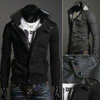 men's cardigan pure color men clothes Hoodies Jacket Coat