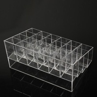 Clear Trapezoid Lipstick Makeup Display Holder Case Cosmetic Organizer NI5L