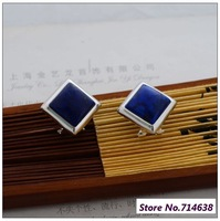 925 Pure Silver Jewelry Thailand silver square natural lapis lazuli beautiful fashion female models. Earrings xh034636