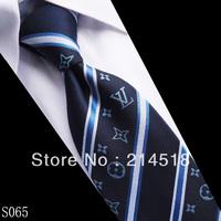 Free shipping bes tseller 100% New Silk Stripe WOVEN JACQUARD Men's Tie Necktie  S065-3