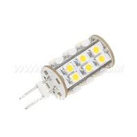 Free Shipment 25LED 12VDC SMD3528 LED GY6.35 Bulb White Warm White  5pcs/lot Dimmable 360Degree