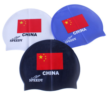 Swimming cap national flag pattern swimming cap rubber swimming cap prevent water inlet