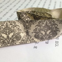 "Free shipping wholesale 1"" Zakka Retro Handmade printed Cotton Ribbon Sewing label 25mmx100m Natural style woven label"