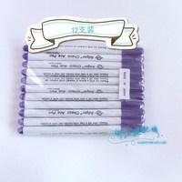 Multithread fade pen gas consumption pen auto vanishing pen marker pen purple first level