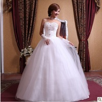 White rhinestone flower bride wedding 2013 sweet princess dress diamond decoration tube top bandage