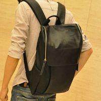 vintage pu leather bag printing black leisure unisxe schoolbag men backpacks 29*44*11cm