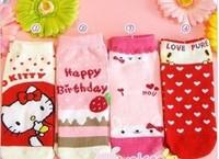2014 Hot Sale Lovely Cartoon Animal Socks / Cute Lady Cotton Short Socks 1lot=10pairs=20pieces design random send