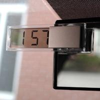 3208 suction cup transparent lcd car electronic clock car digital electronic clock