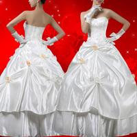 The bride wedding dress formal dress beautiful sweet fairy tale princess wedding dress racket hsa6 in-kind