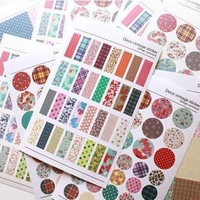 Free Shipping! New 6 pcs/set Vintage Deco Ver.1 paper  pvc sticker/Decorative fabric print Label/Multifunction/ Wholesale