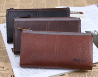 Genuine Leather Men's Purse Card Holders Long-Length Wallets Men's Clutch Bags For Men Free Shipping !