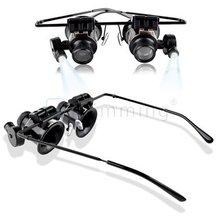 Venda quente de alta qualidade 20x lupa lupa Eye Glasses Loupe Lens Jeweler assista Repair Tool grátis frete(China (Mainland))