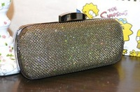 free shipping 2013 new hollow out glitter chain bags women fashion clutch handbags evening bag wholesale