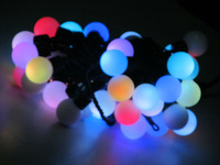 RGB color 5M 50pcs LED Ball String Light waterproof free shipping