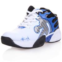 2012 male sport shoes Men medium cut basketball shoes fashion color block decoration basketball shoes slip-resistant