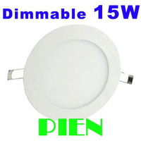 Dimmable LED Panel Bulb 15W Round Indoor ceiling Lamp Ultrathin 2835 SMD 170mm Cold|Warm white 110V 220V 12V by DHL 20pcs/lot