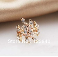 2014 new design Free Shipping New Arrival non-piercing   clip earrings rhinstone stone ear clips