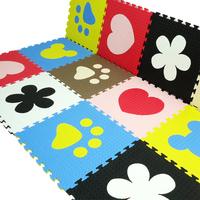 Free shipping -Multi-Color EVA Foam Exercise Play Mat - 9 pc / Kids Play Puzzle Mat Eco Foam Tile