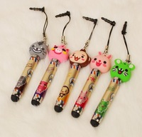 Cartoon animal stylus for iphone 4/4 s capacitance stylus