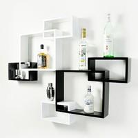3pcs/set Paint Wall Ledge CD Rack Shelf Diaphragn TV Shelf White,Red,Black Three Color For You Choose