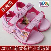 2013 dora girls shoes child beach sandals 26 - 32 open toe sandals