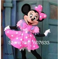 Pink Minnie Mouse Mascot Cartoon Costume Adult Size Mascot Costume adult Fancy Dress Charactor school mascot costume