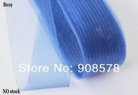 4.5cm Wide Crinoline Tubular Ribbon Trim Millinery Hats Blue 100 yards a lot