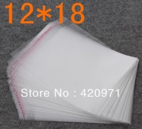 wholesale 1000pcs/lot Transparent OPP Bags Packing Plastic Bags Self Adhesive Bags gifts Bags 12x18cm Free Shipping