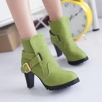 ladies shoes Woman martin 2013 fashion buckle ankle boots for women high heels pumps big size eur 34-43 winter autumn CSXX34568
