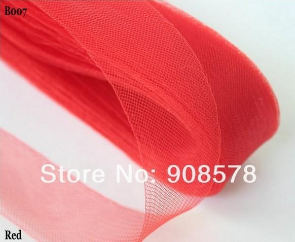 4.5cm Wide Crinoline Tubular Ribbon Trim Millinery Hats Red 100 yards a lot(China (Mainland))