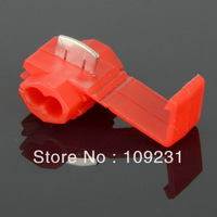 10PCS New Electrical Cable Wire Snap Lock Splice Connectors Red G0120