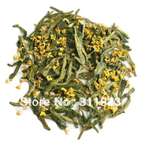 Superfine Osmanthus Fragrans Longjing/Dragon Well Green Tea 100g free shipping