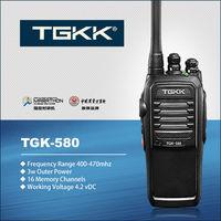 TGK-580 handheld 3W ham radio transceiver