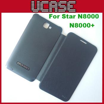 Black/White Star N8000 case Original Flip cover for MTK6577 Star N8000+ MTK6575 Star N8000 , Free Screen protector