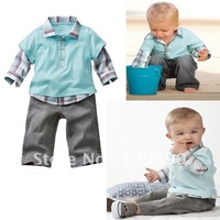 Free shipping!wholesale!2012 autumn New design hotsale handsome boys 2-pieces clothing set,5pcs/lot, in stock