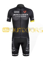 2012 Hot sell  black New bontrager bike bicycle outdoor Team cycling Jersey +BIB 3D Padded Shorts  S to 3XL Free Shipping