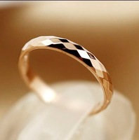 Designer wholesale Jewelry Fashion 18k Rose Gold  plated top wedding finger rings for women cheap Free shipping 03