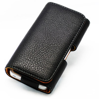 Classic Belt Clip PU Leather Case Cover for iphone4/4s/3G/4GS HTC One V Black