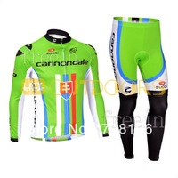 Free Shipping 2013 Cannondalet Bike bicycle clothing Team cycling Man's outdoor sport riding suit Long sleeve Jersey+Bib Pants